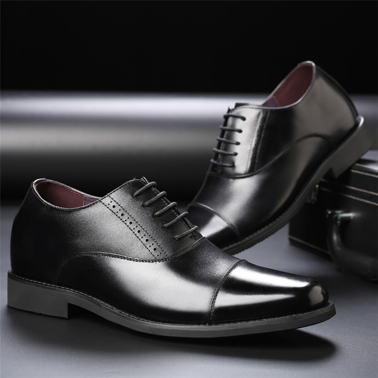 Taller Men 7 cm Height Increasing Elevator Leather Shoes_12