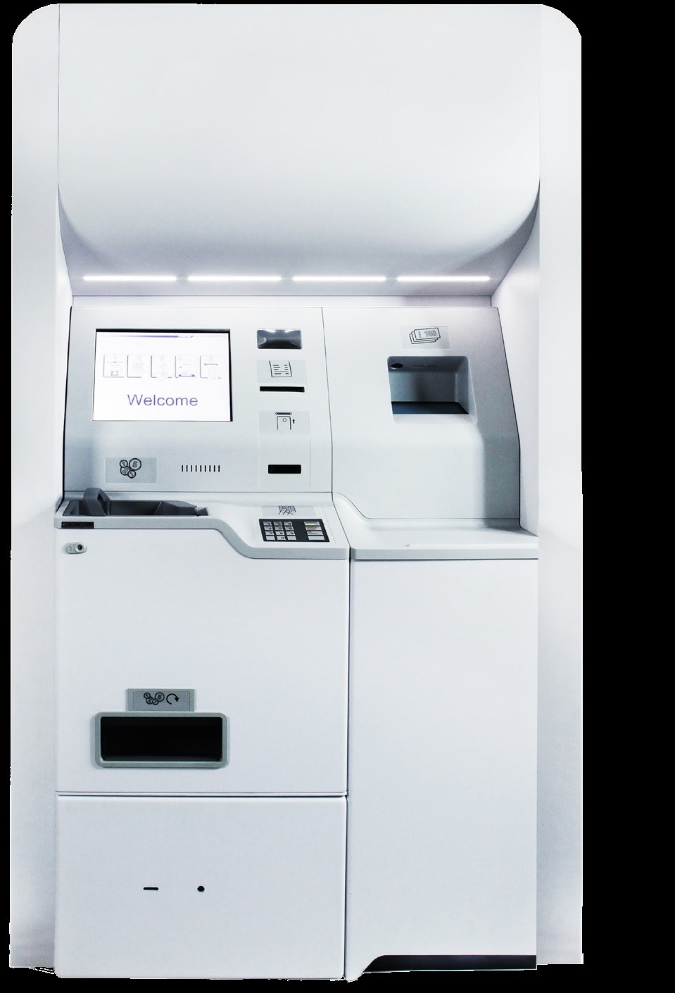 Cash deposit machine coin