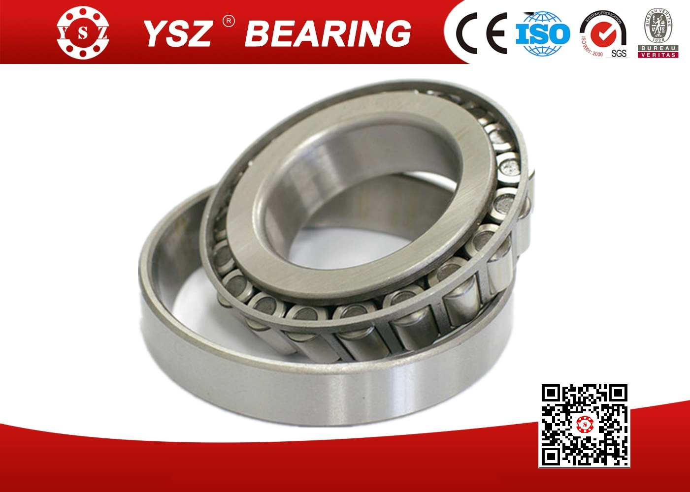 GCr15 Steel Single Row Tapered Roller Bearings For Heavy Truck 32028 140*210*45 mm_3