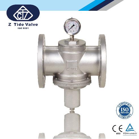 Direct acting pressure regulator / pressure reducing valve