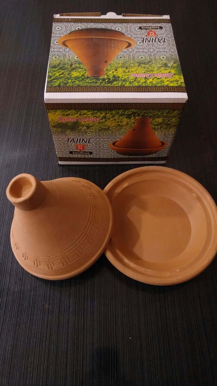 Terracotta pottery tajine