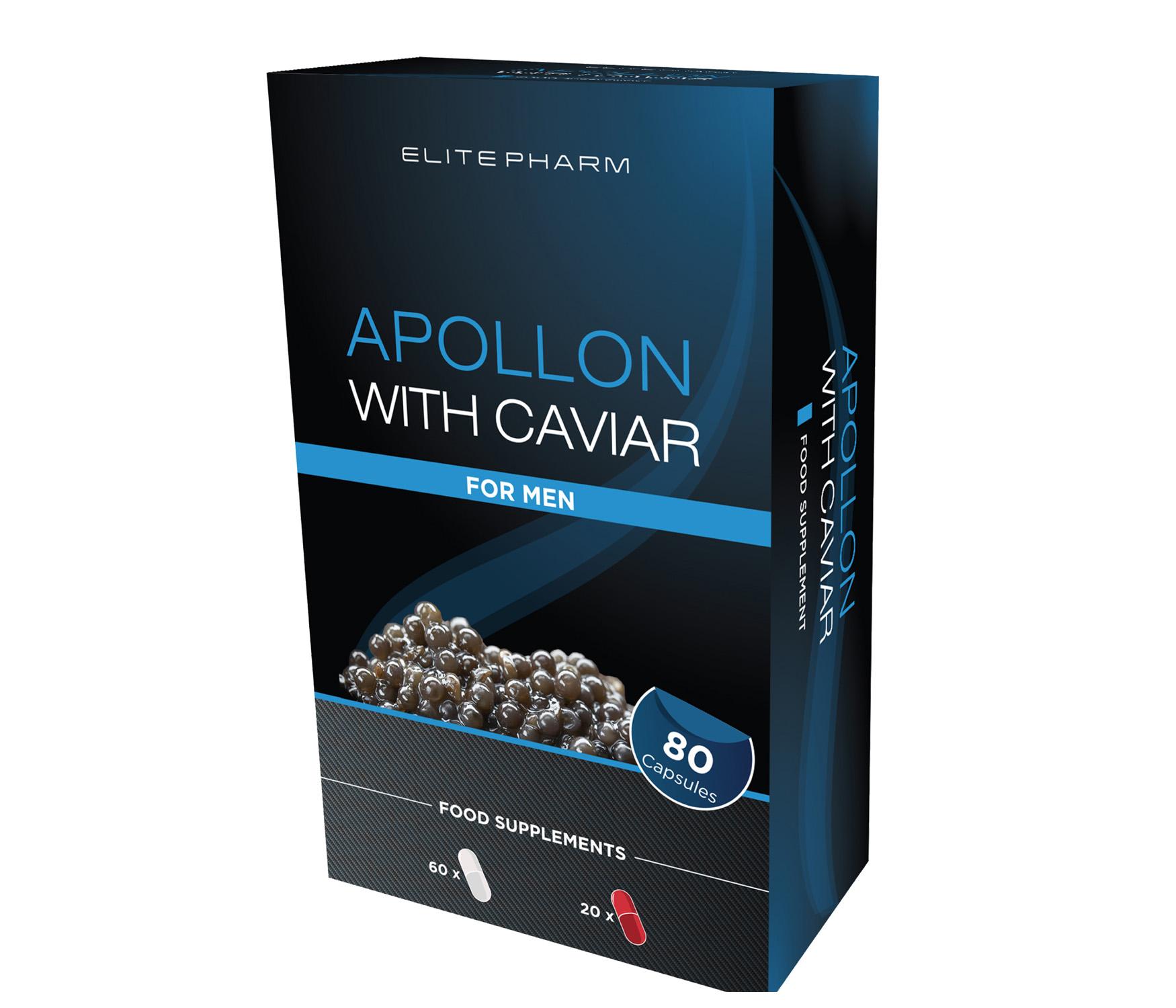 Apollon with caviar for men
