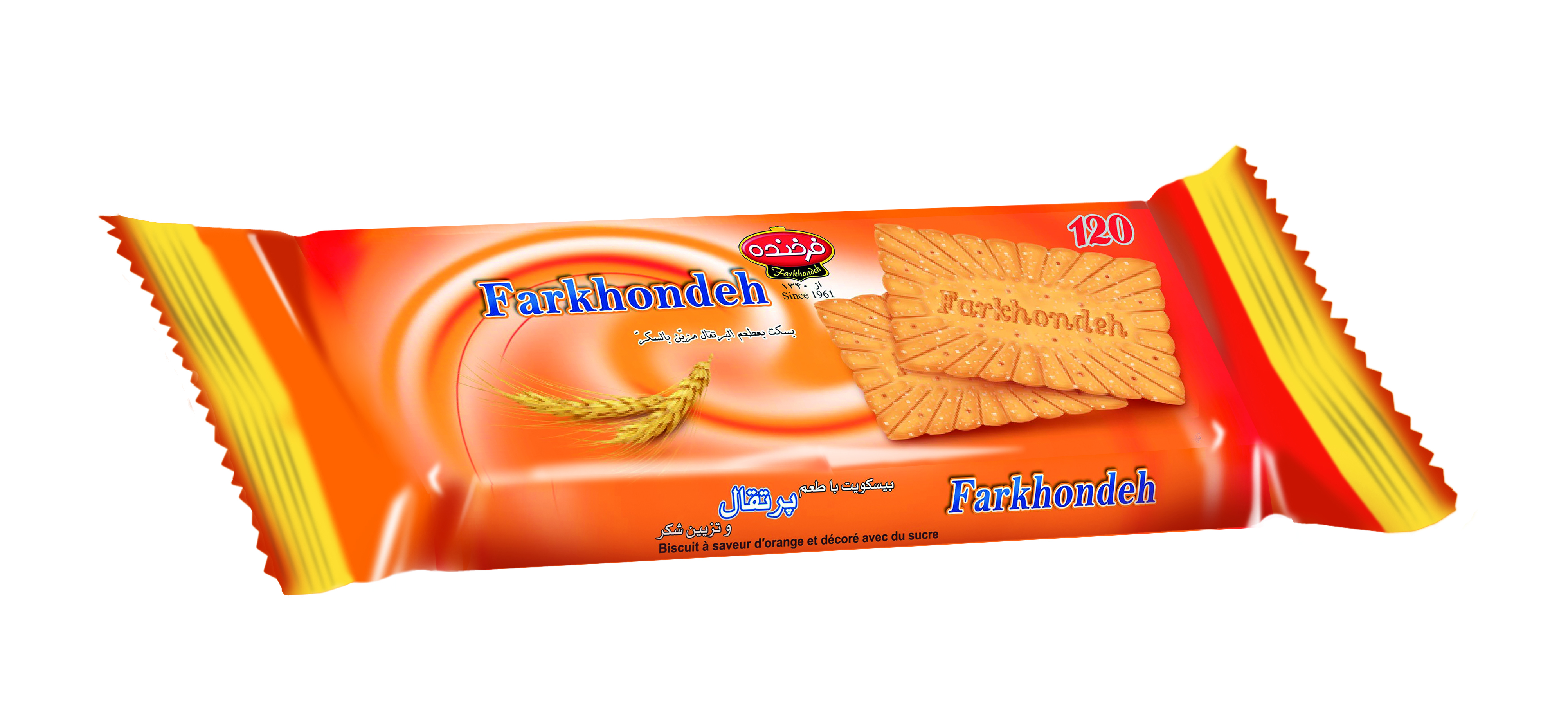 Biscuit with Orange Taste Topped with Sugar Model 120