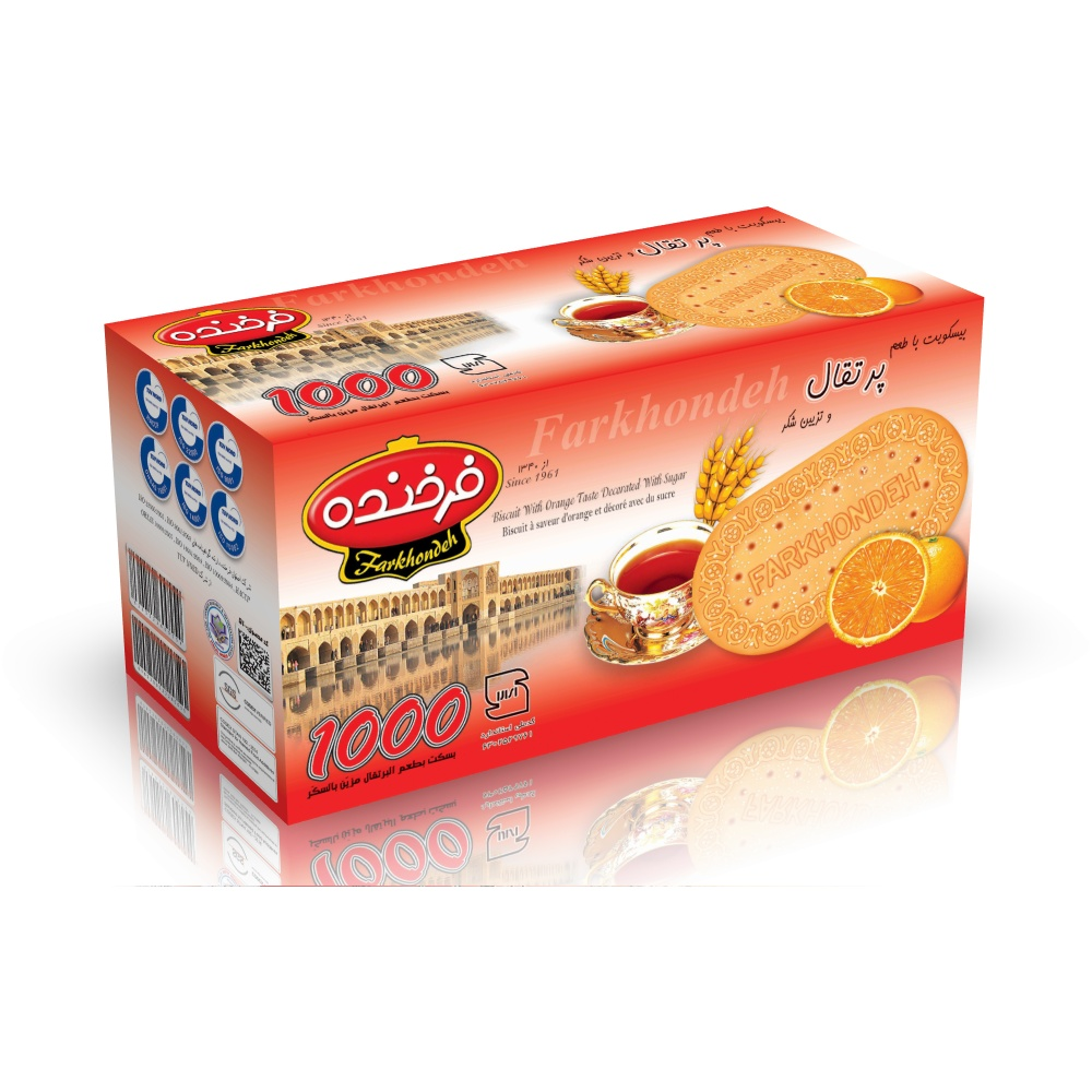 Biscuit with Orange Taste Topped with Sugar Model 1000