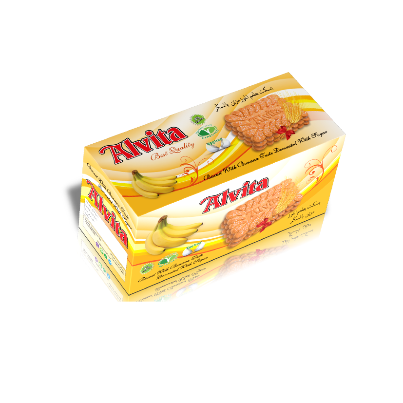 Biscuit with Banana Taste Topped with Sugar - Family Model