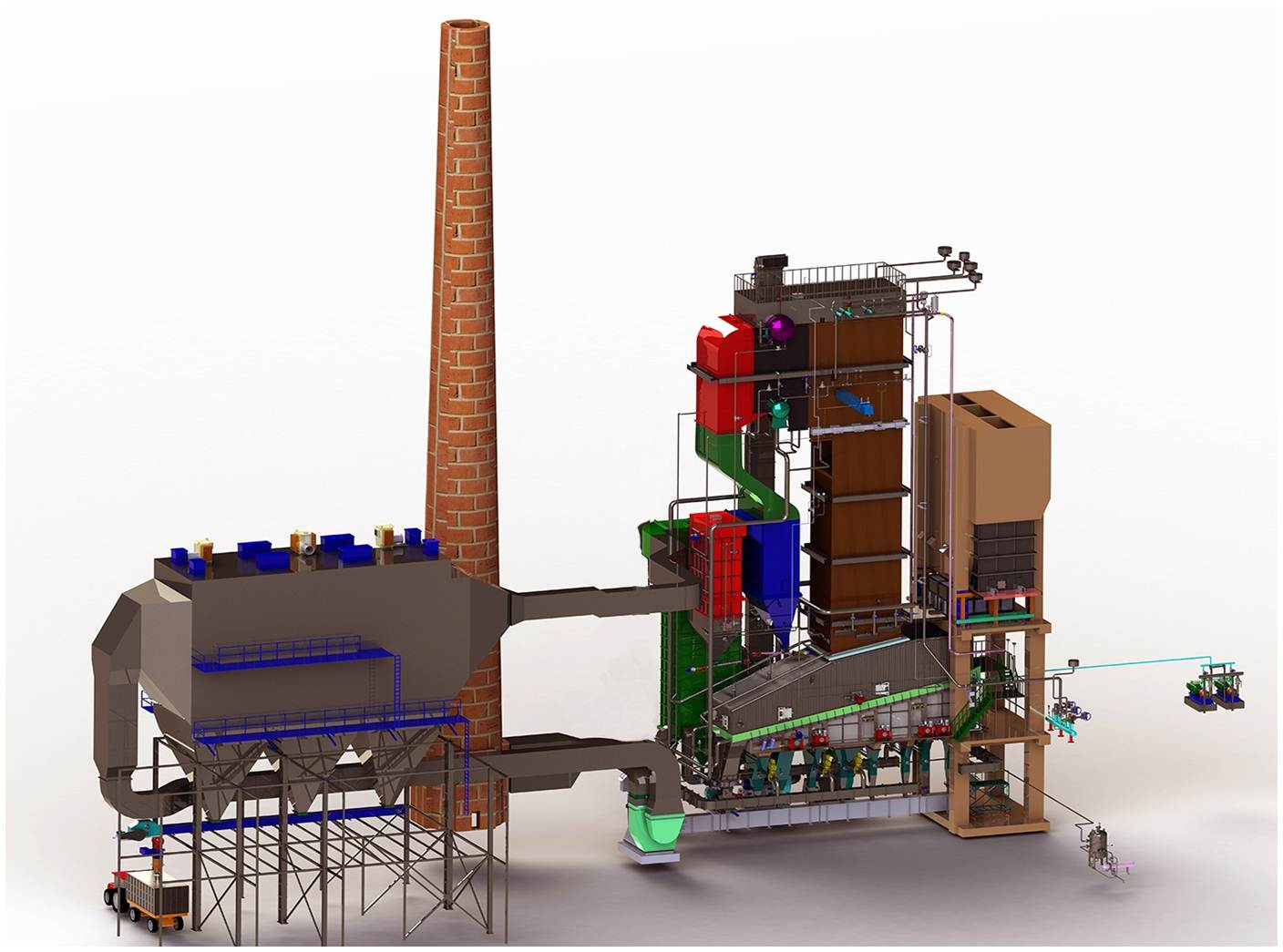Steam, solid fuel and gas boilers