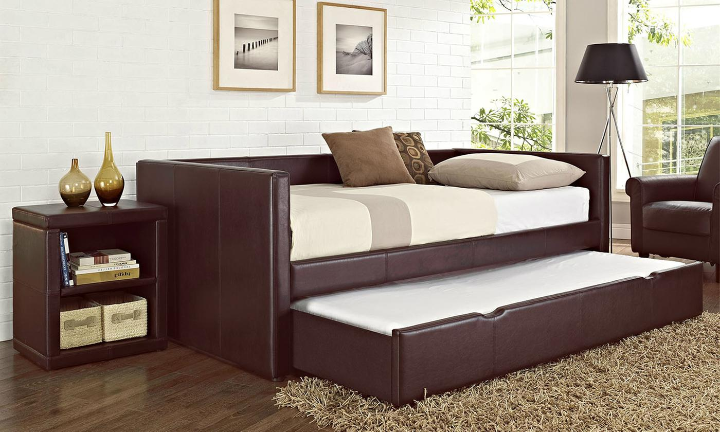 Lindsey Twin Daybeds with Trundle Beds with Mattresses in Choice of Color Furniture