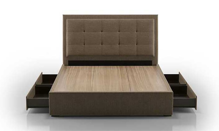 Four-Drawer Storage Bed with Optional Mattress Furniture