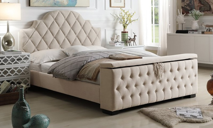 Footboard Storage Bed with Optional Mattress Furniture