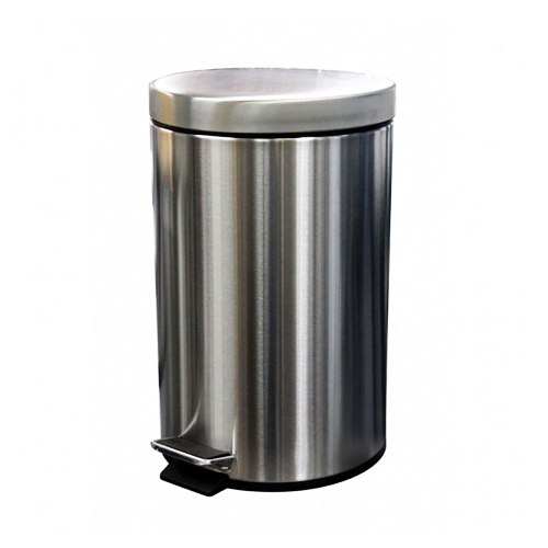 Hygienic stainless steel pedal bin