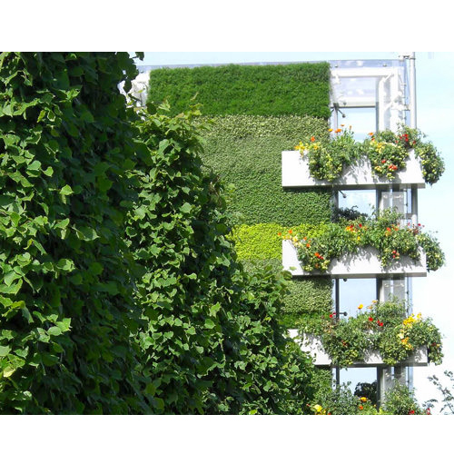 Vertical support living wall systems