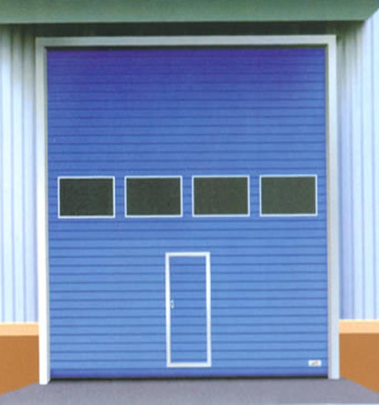 Auto sliding steel industry folding door