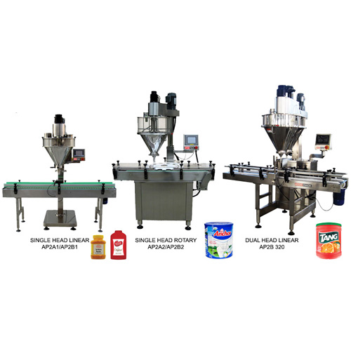 Automatic jar-bottle-can filling line