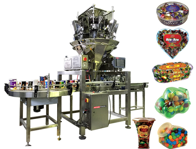 Automatic Inline Container Filling Machine