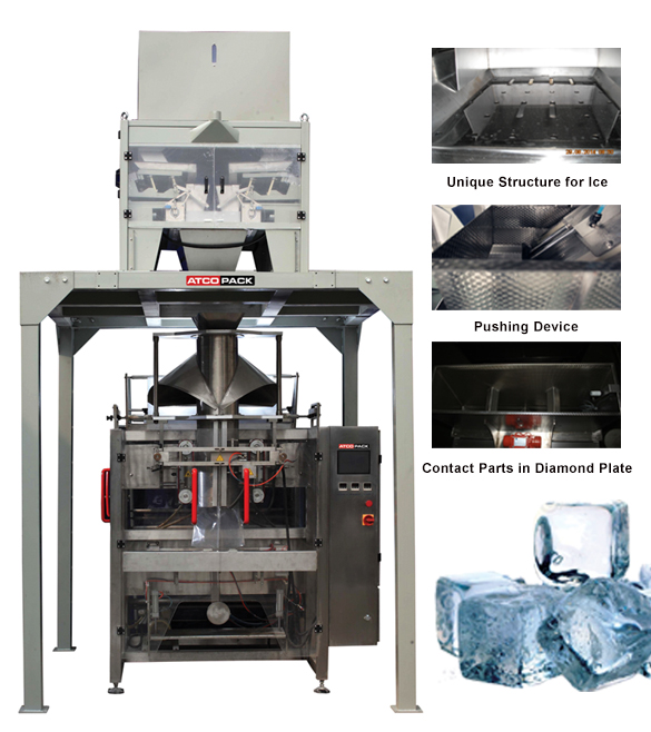 Automatic ice cube packaging machine