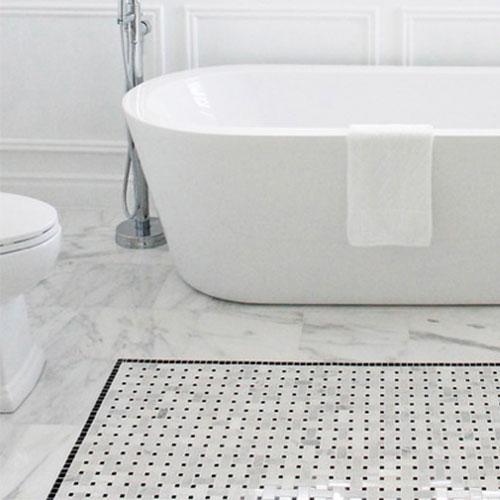 Bianco Carrara White Marble Floor Tile_2