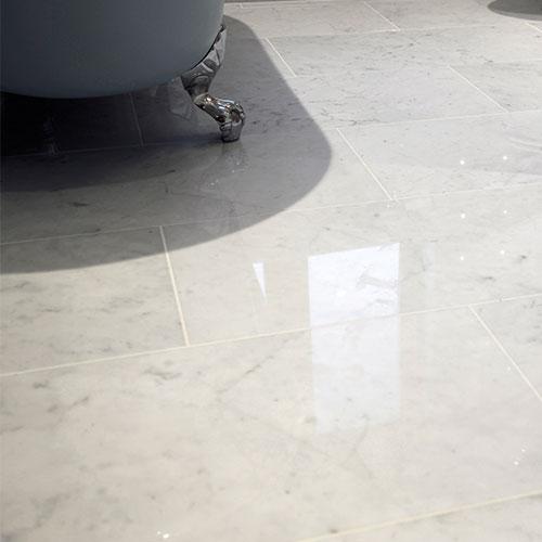 12''x12'' Itaian White Carrara Marble Tile_2