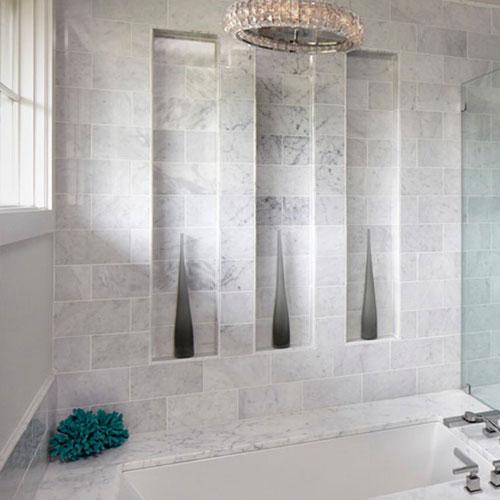 Polished 4''x18'' Bianco Carrara Marble Wall Tile_2
