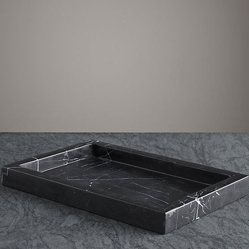 Nero marquina marble polished tray bathroom