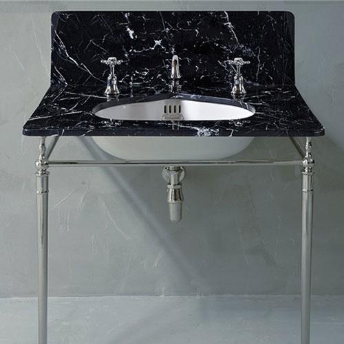Nero marquina marble tray bathroom