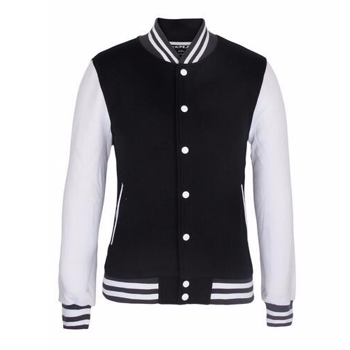 Wholesale Cheap Custom Plain Blank Satin Bomber Varsity Man Jacket_3