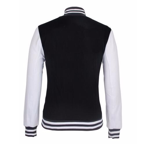Wholesale Cheap Custom Plain Blank Satin Bomber Varsity Man Jacket_2
