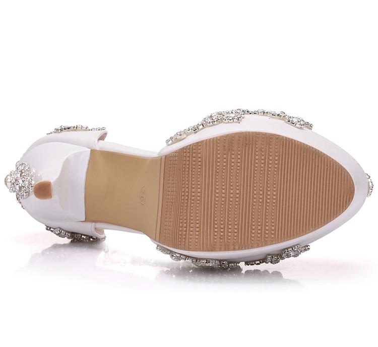 Fashion Luxury Rhinestone Ultra High Heels Women's Wedding Shoes_6