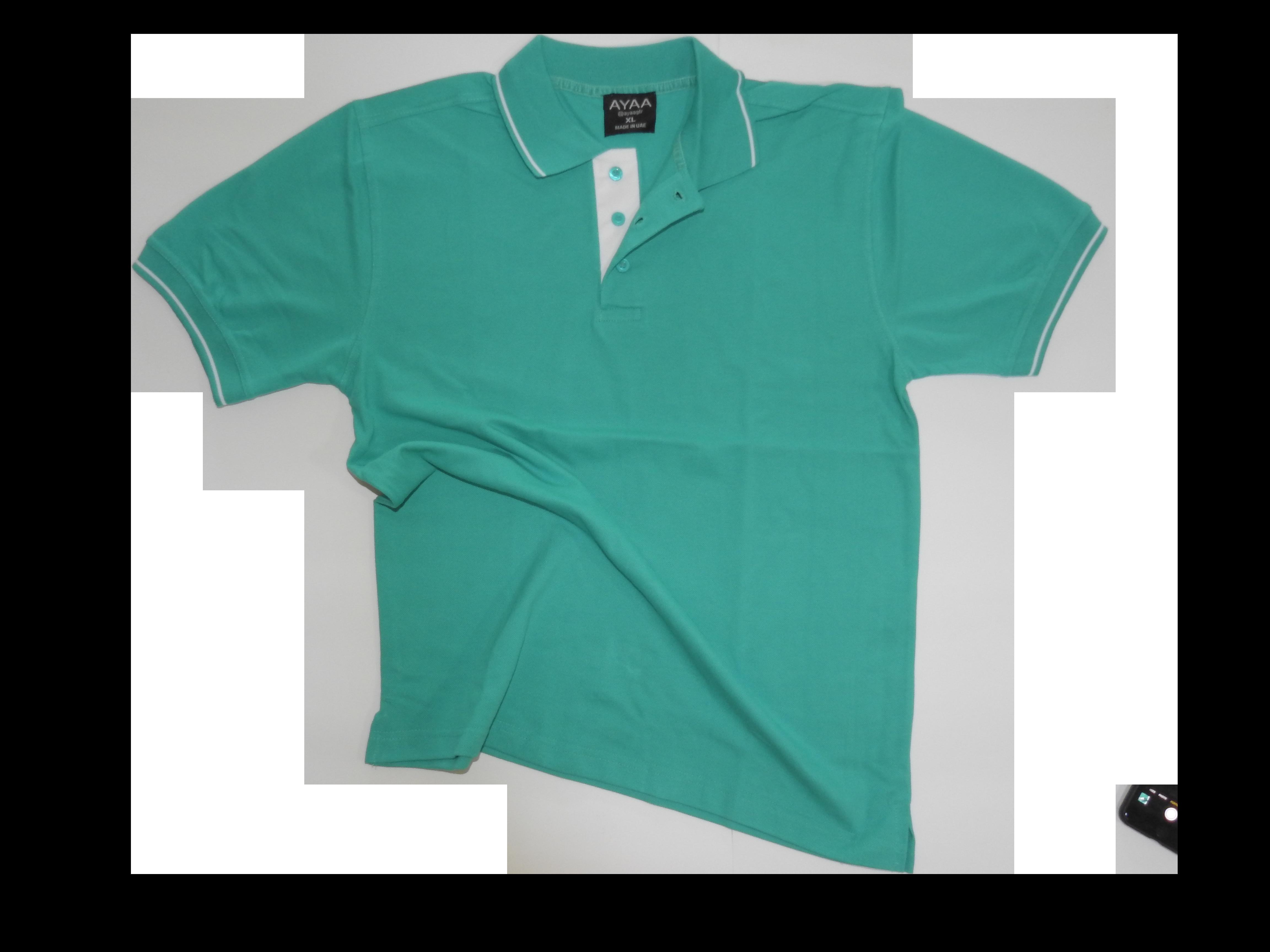 Blank polo t-shirt sea green