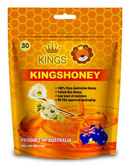 Kings Kuma Yellow Honey Straws (30 x 12g)/ bag 100% Australian Product