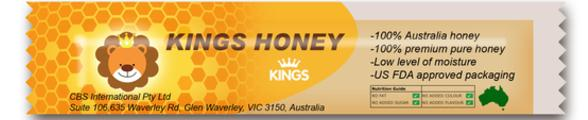 Kings Kuma Yellow Honey Straws (30 x 12g)/ bag 100% Australian Product_2