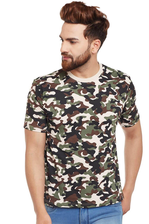 Visavi men camouflage t-shirt - army green