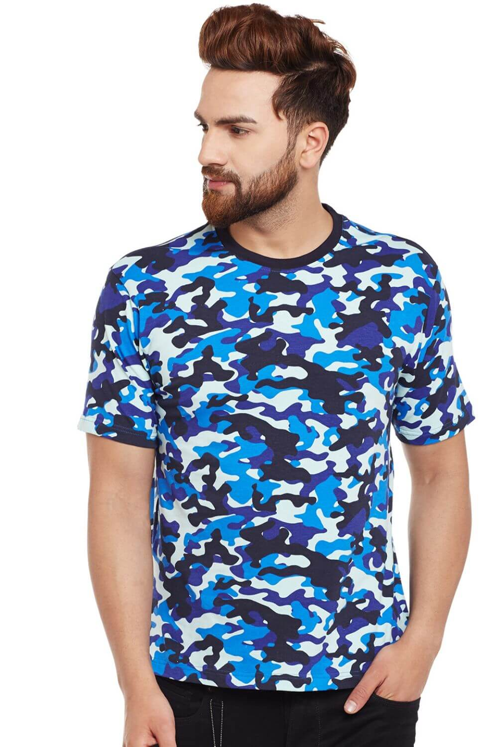 Visavi men camouflage t-shirt - blue