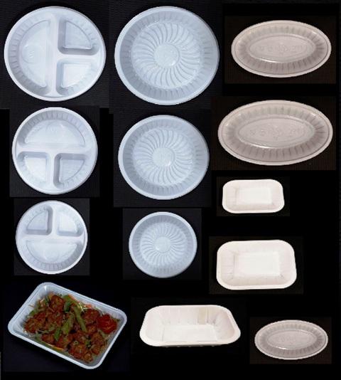 Plastic disposable trays & plates