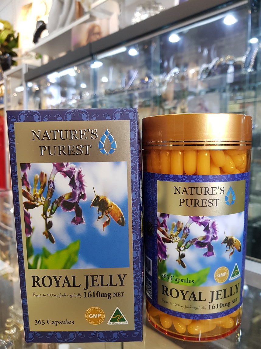 Nature's Purest Royal Jelly 1610mg 365s MADE IN AUSTRALIA GMP