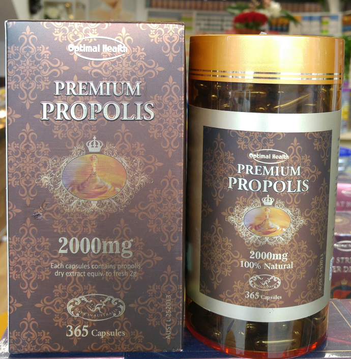 Optimal health propolis 365 capsules made in australia tga licence