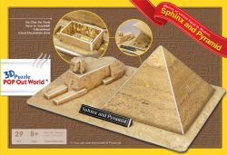 "3d puzzle pop out world ""the sphinx and the great pyramid of giza - egypt"""