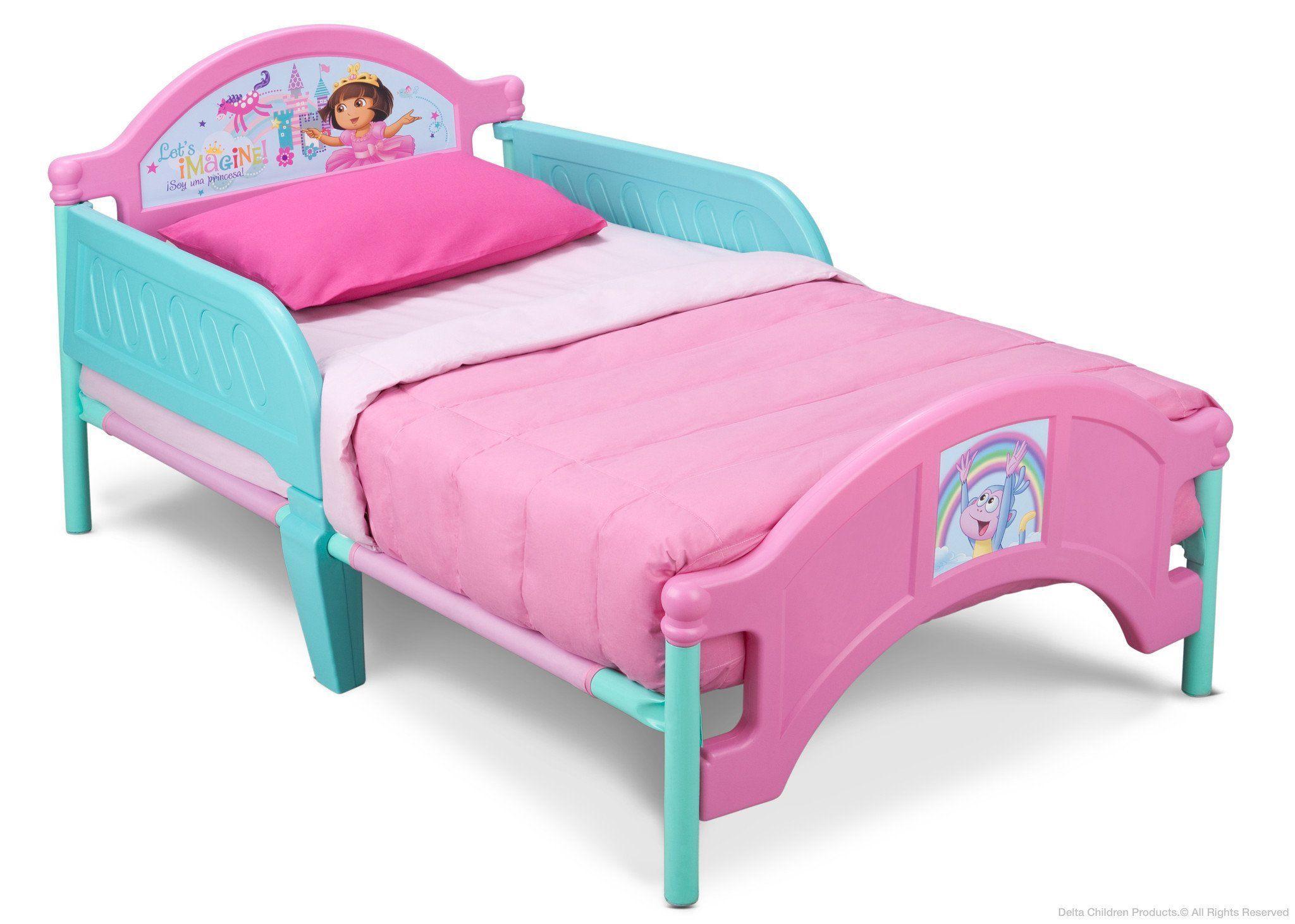 Dora plastic toddler bed