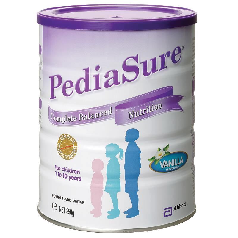 Abbott pediasure 850g children 1-10 years old can aus nz delivered