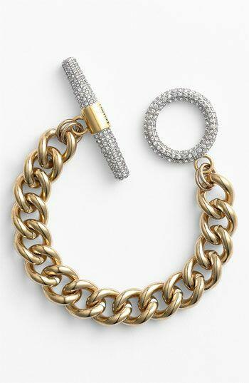 Gold curb bracelet