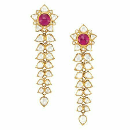 Antique gold mughal earrings