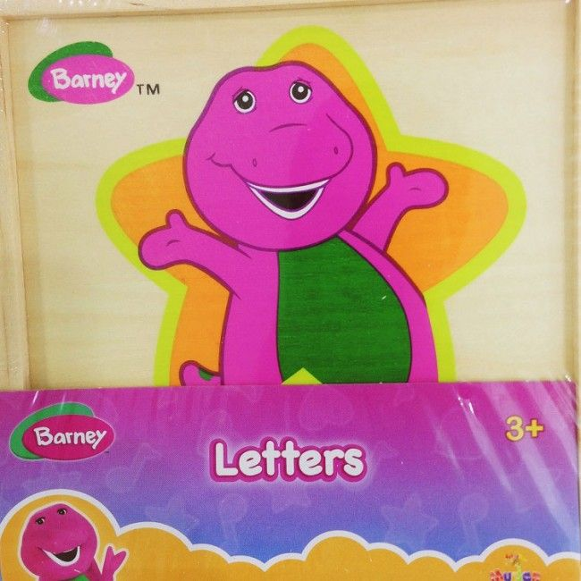 Barney wooden toys letters (muj830)