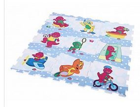 Barney & Friend Design EVA Puzzle Play Mat 9 Pcs_4