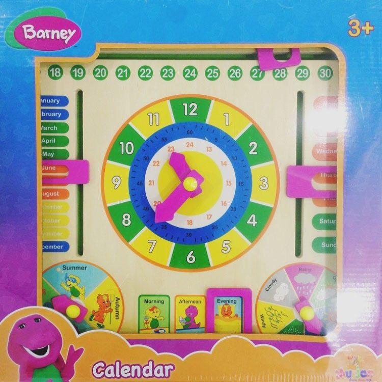 Barney Wooden Calendar Clock 3  Ages (MUJ832)_3