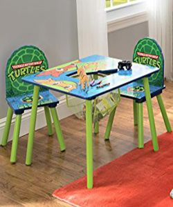 Teenage mutant ninja turtles table & chair set with storage