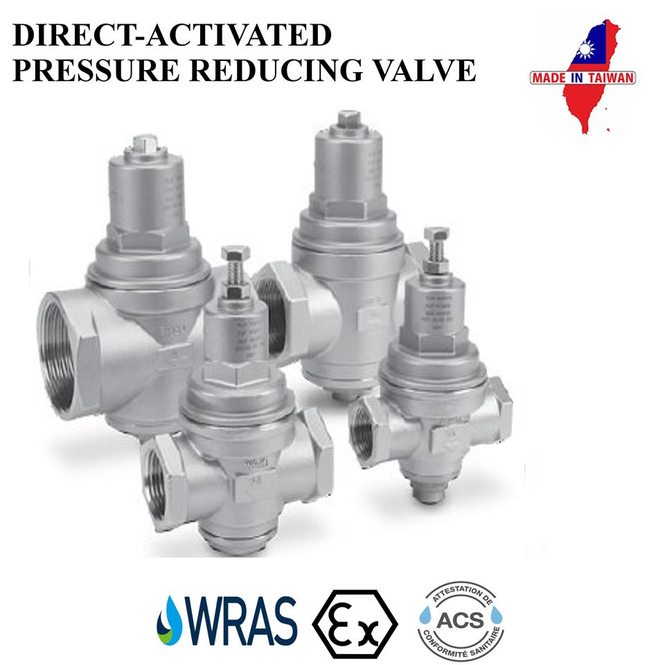 Wras acs pressure regulator ss316 thread end