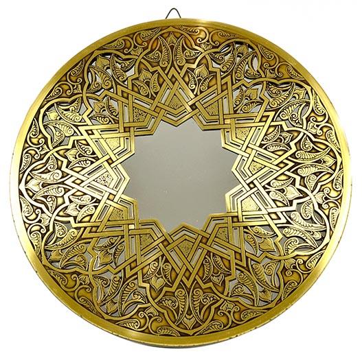 Fully handmade copper mirror (l) 40 cm