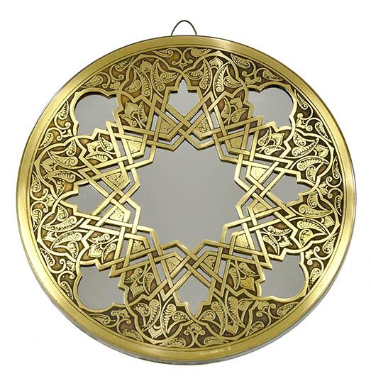 Fully handmade copper mirror (s)-2 20 cm