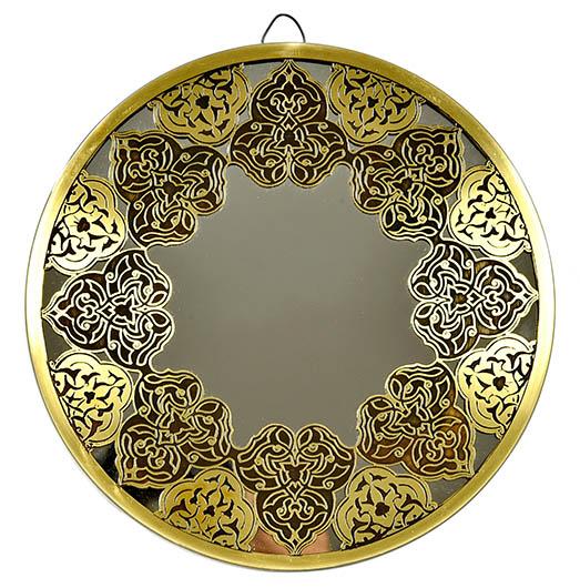 Fully handmade copper mirror (m)-1 30 cm