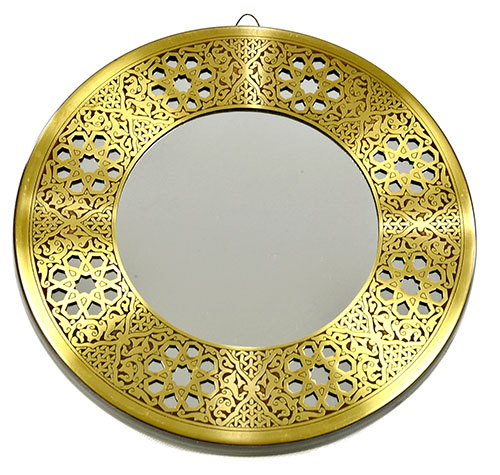 Fully handmade copper mirror (s)-1 20 cm