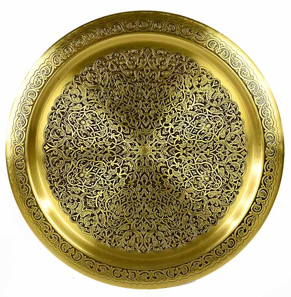 Fully handmade copper tray 30 cm